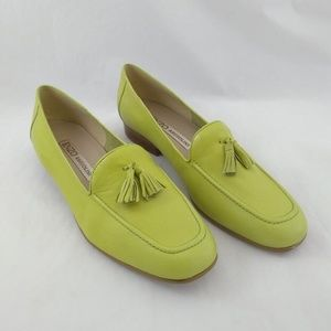 NWOB Enzo Angiolini 9M Loafers Key Lime Green Leat